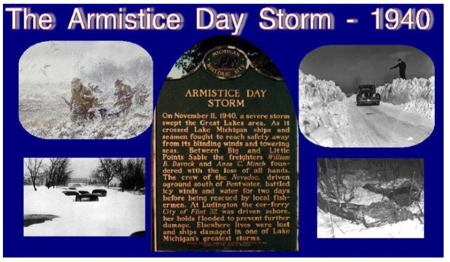 Amistice Day Storm collage