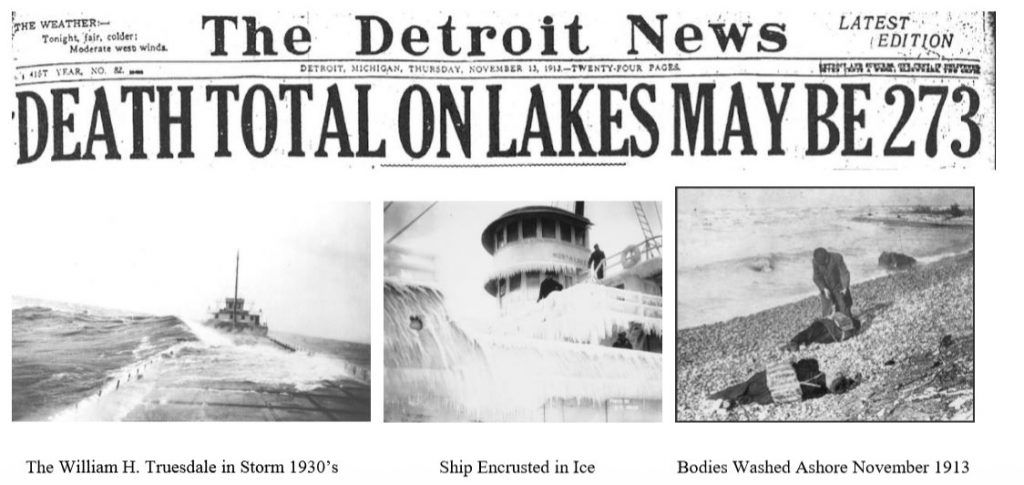 Shipwreck headlines in The Detroit News