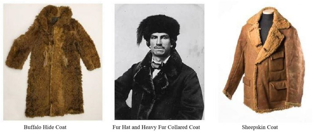 Fur, buffalo hide, and sheepskin coats